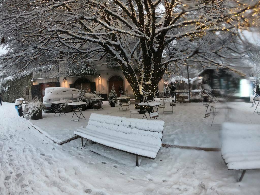 28 dicembre, nevicata a Bergamo