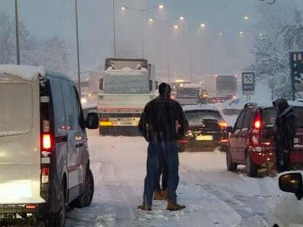 asse bloccato neve