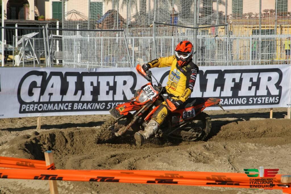 Davide Marangoni, Campione Italiano 2020 Enduro Major nella classe Veteran 2T, su KTM 300 cc 2T