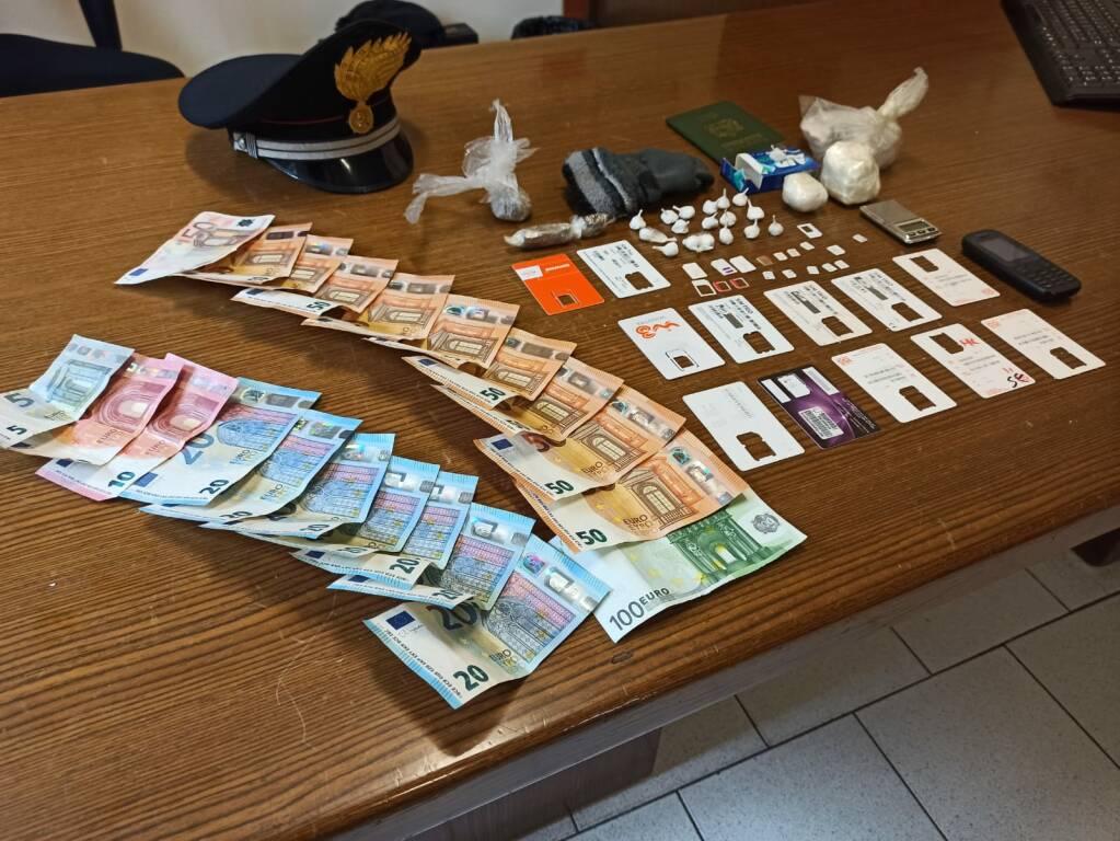 denaro da spaccio - carabinieri