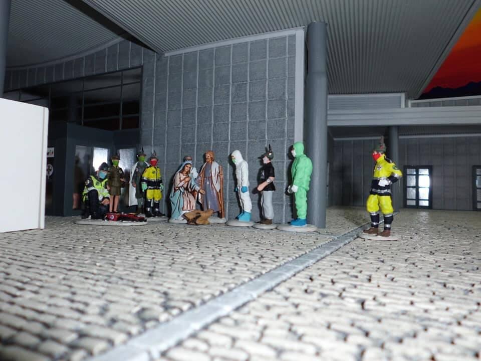 Il presepe di Alessandro per l'ospedale in Fiera