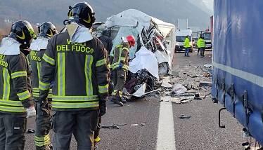 Incidente a22 (credits TgRai Trentino)