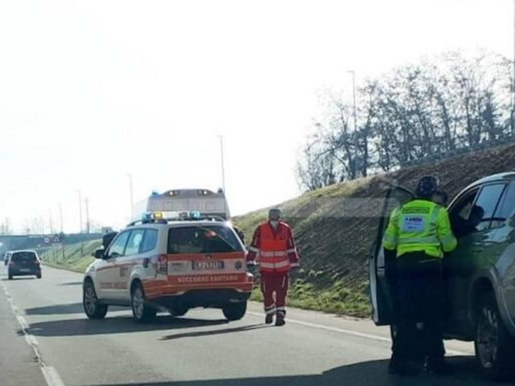 Brusaporto, incidente lungo la Provinciale
