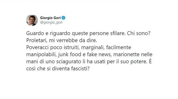 Gori tweet