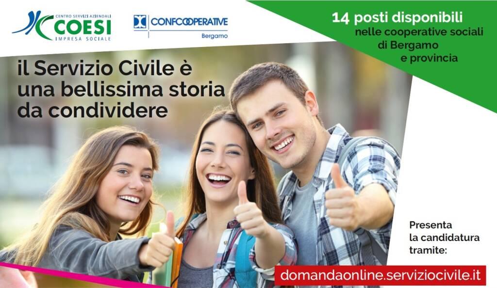 servizio civile confcooperative bergamo