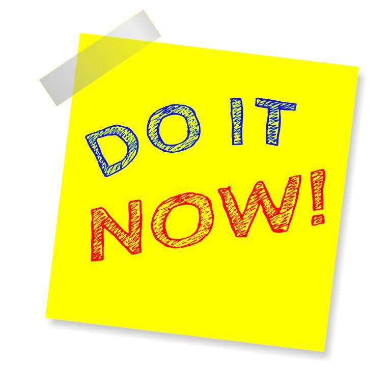adesso procrastinare (foto Pixabay)