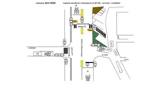 Boltiere: accordo con la Provincia per l'impianto semaforico di Via Battisti