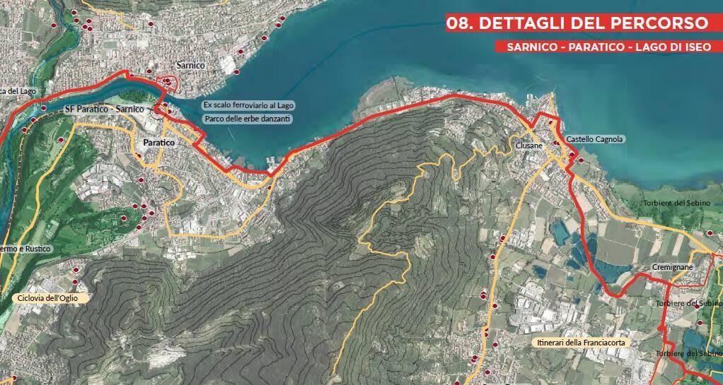 Ciclovia Bergamo Brescia - passaggio Sarnico - Paratico
