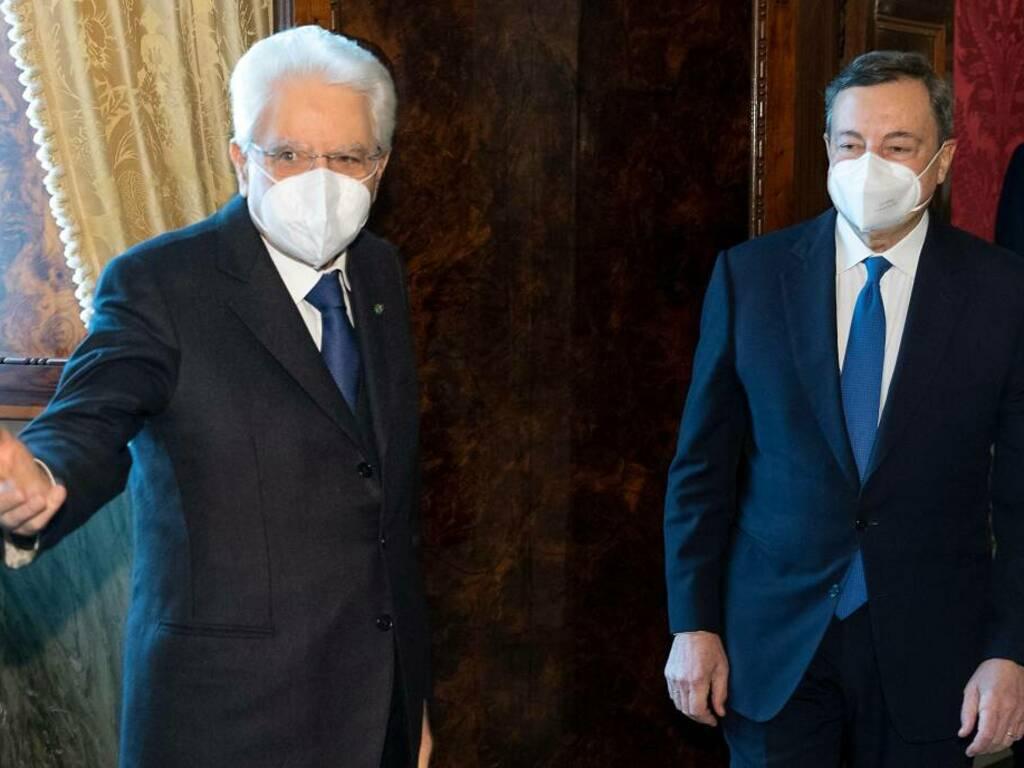 Draghi e Mattarella - foto quirinale