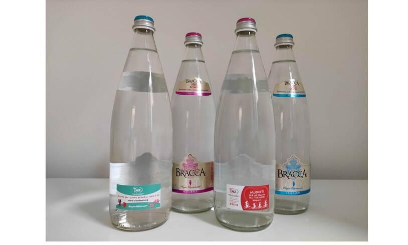Salute, cultura e benessere: messaggi positivi sulle bottiglie di Bracca Acque Minerali