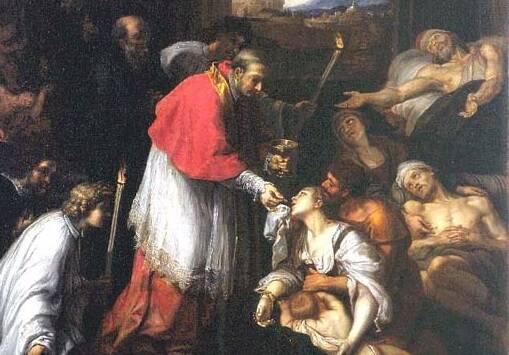 San Carlo Borromeo tra gli appestati di Milano