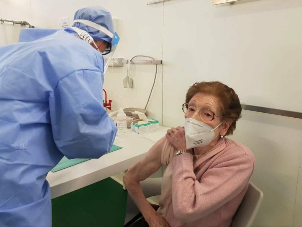 Vaccinazioni in Fiera a Bergamo