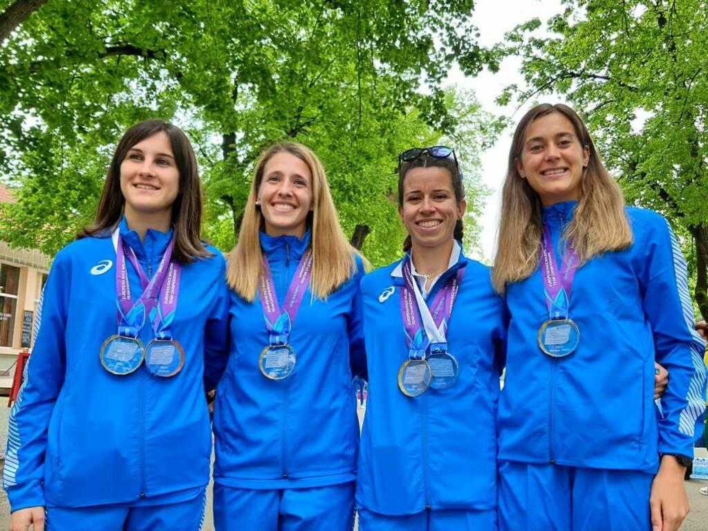 Lidia Barcella, Federica Curiazzi, Eleonora Giorgi e Beatrice Foresti (Foto Fidal) ok