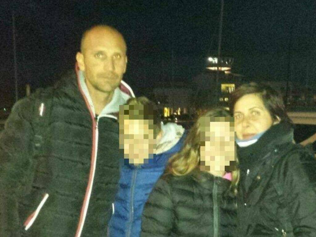Maurizio Gritti con la famiglia