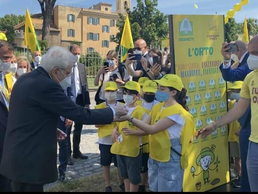 A Castelporziano gli alunni bergamaschi incontrano il Presidente Mattarella