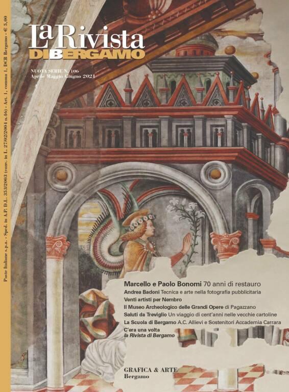 La Rivista di Bergamo, da un disegno di Leonardo ai venti lenzuoli di artisti bergamaschi