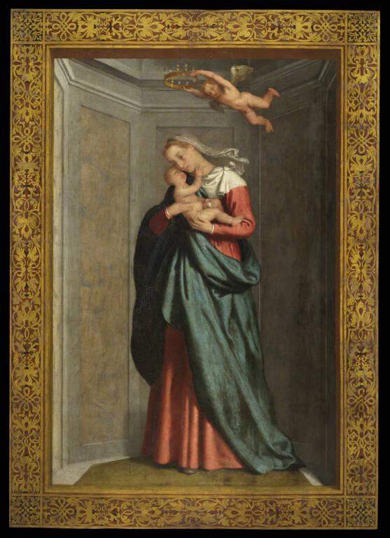 Lo stendardo della Visitazione dipinto da Gianbattista Moroni restituito ad antica bellezza
