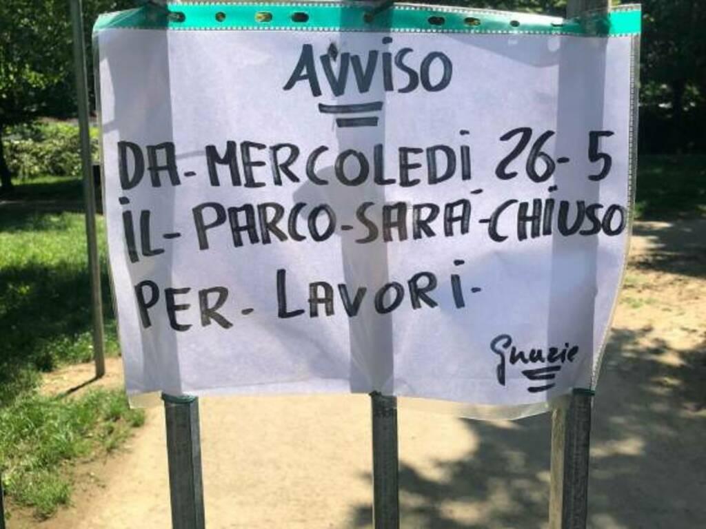parco harris chiuso