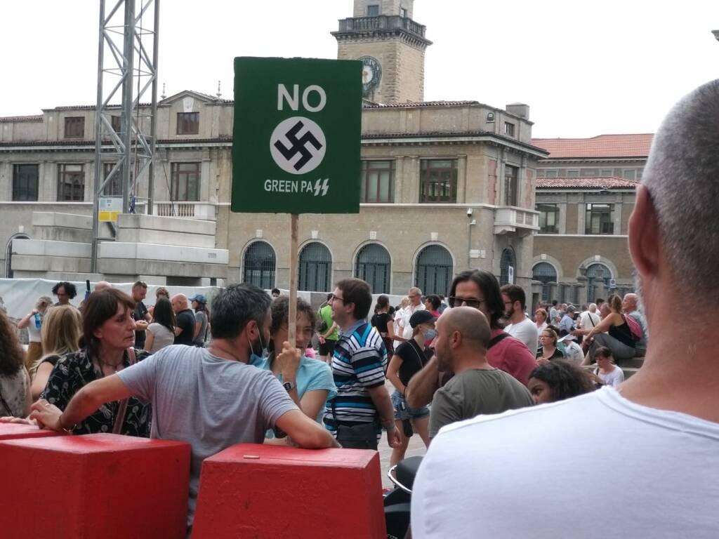 I 'no green' pass a Bergamo