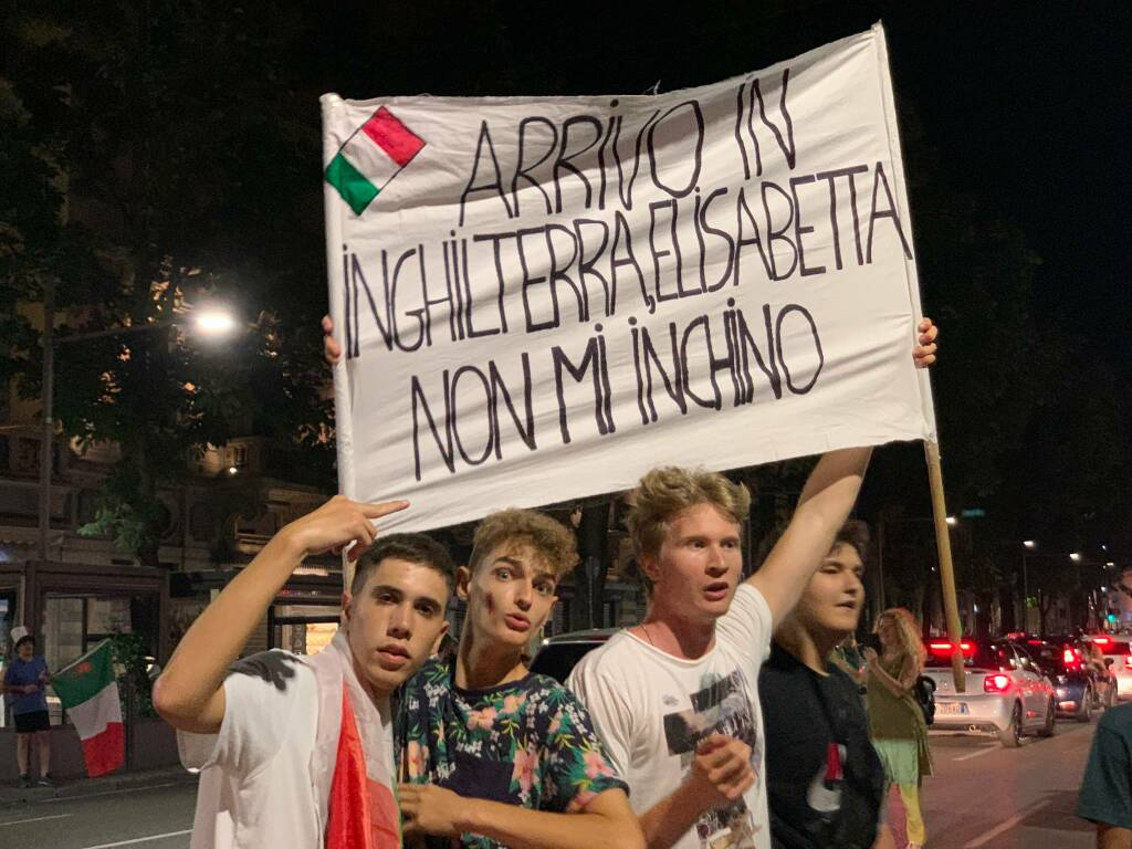 Italia campione d'Europa, la festa a Bergamo