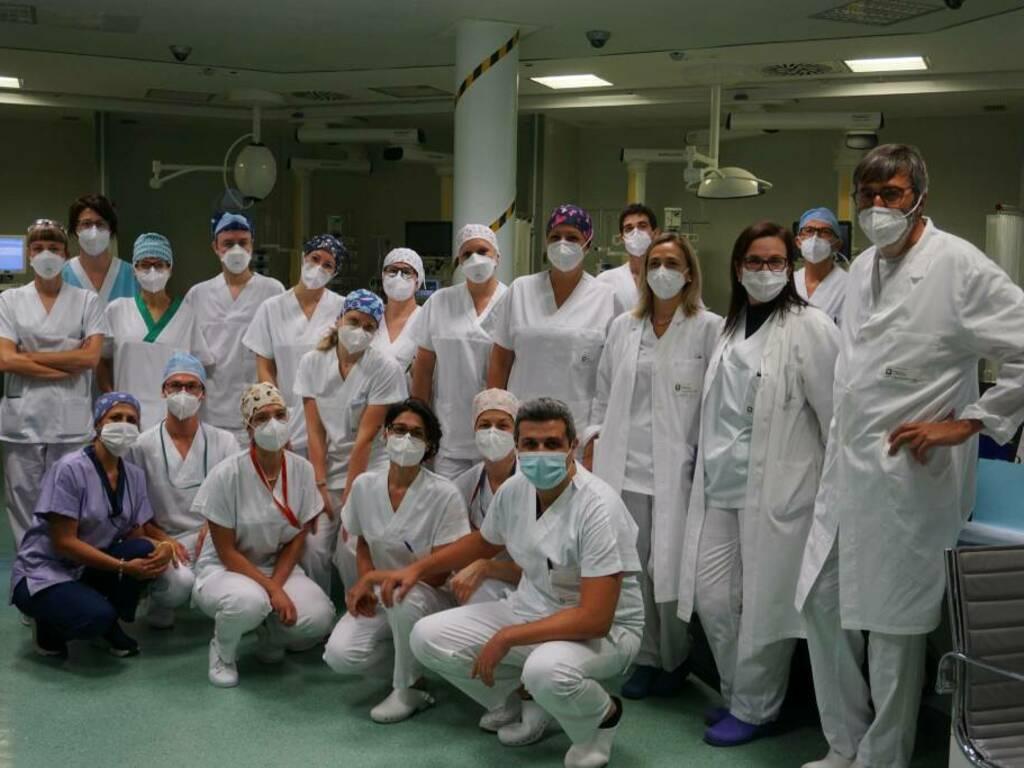 """l'equipe della Terapia intensiva adulti nel reparto tornato """"Covid free"""""""