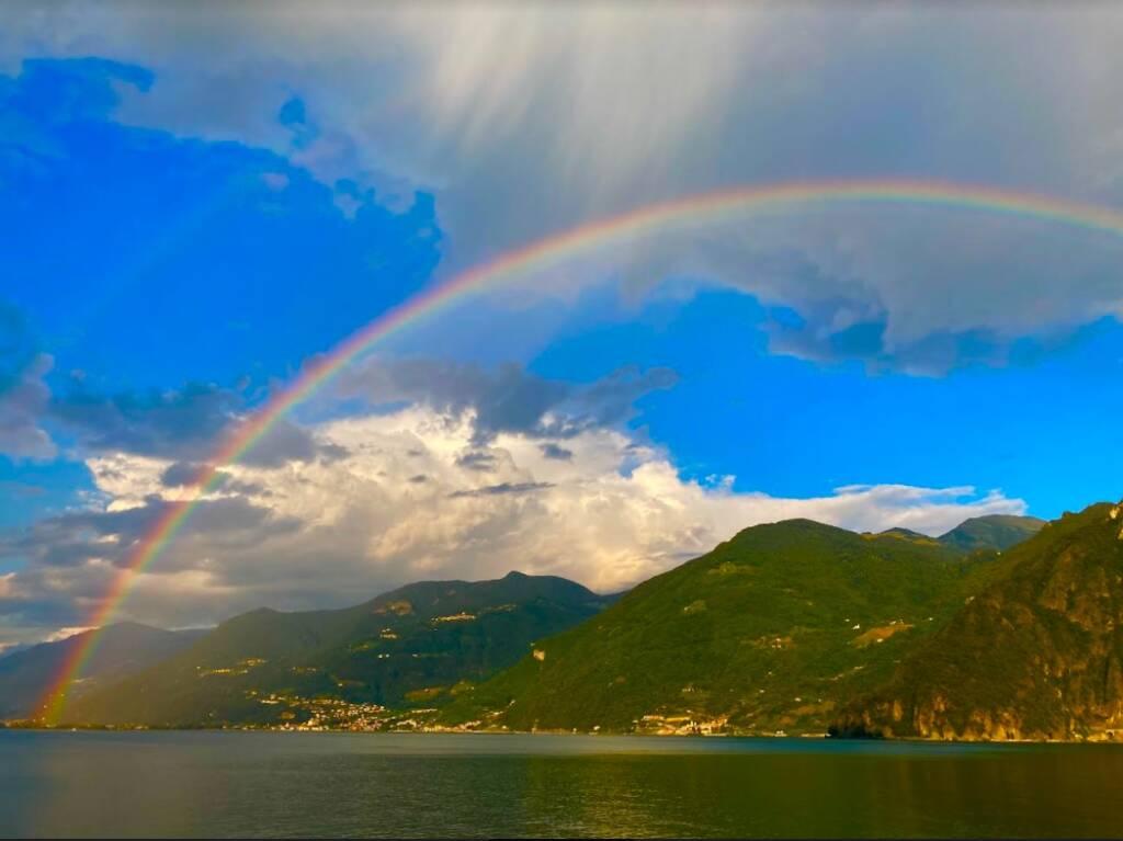 arcobaleno a riva di Solto