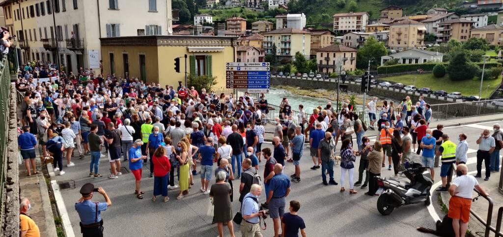 Protesta ospedale San Giovanni bianco