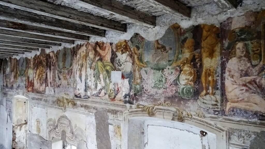 Dipinti del '500 nel chiostro piccolo di Sant'Agostino