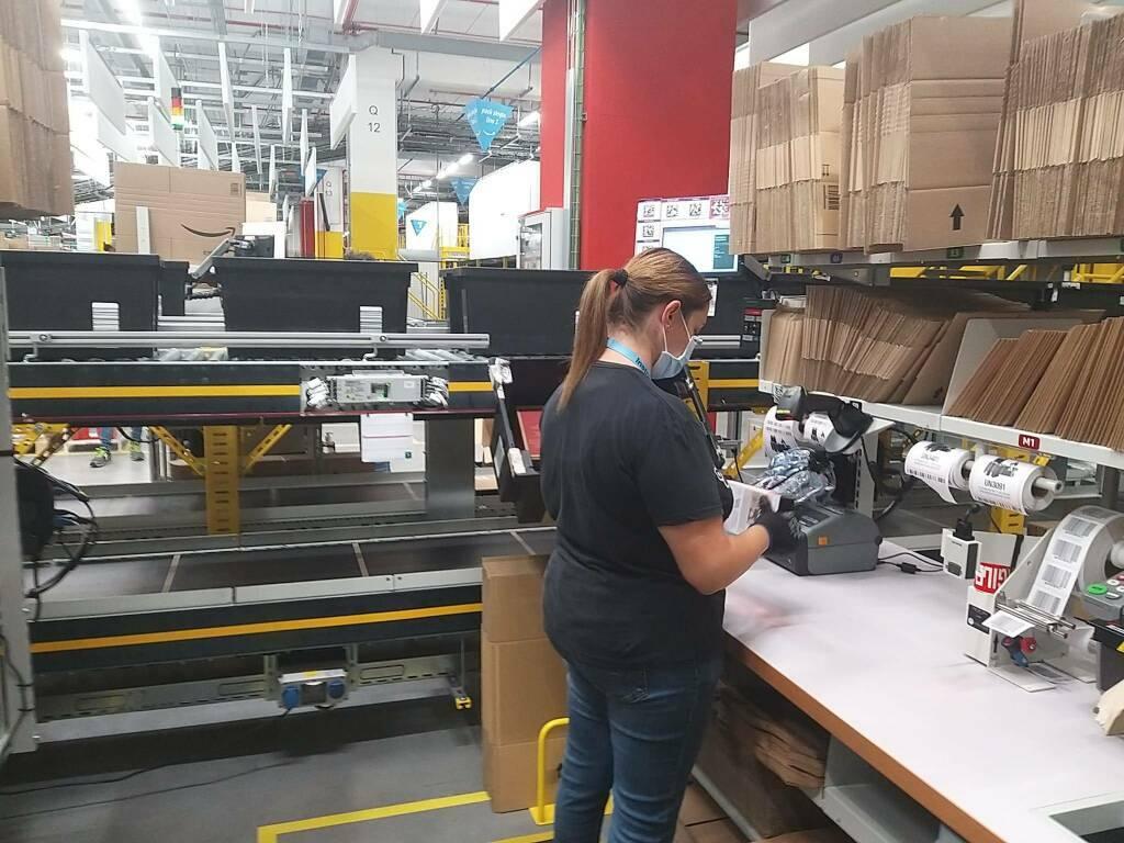 Il nuovo centro di distribuzione Amazon