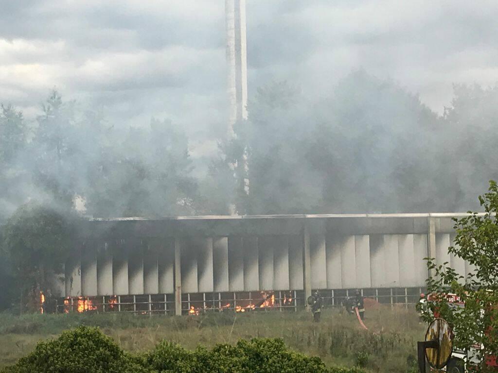 Incendio alla ex Reggiani