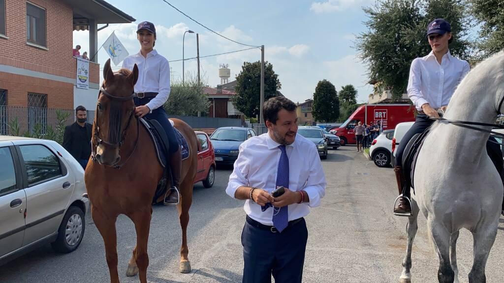 Matteo Salvini a Cologno al Serio