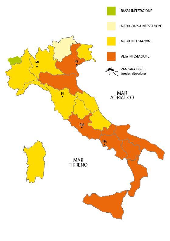 mappa zanzare