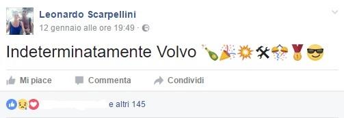 Il post su Fb di Leonardo Scarpellini
