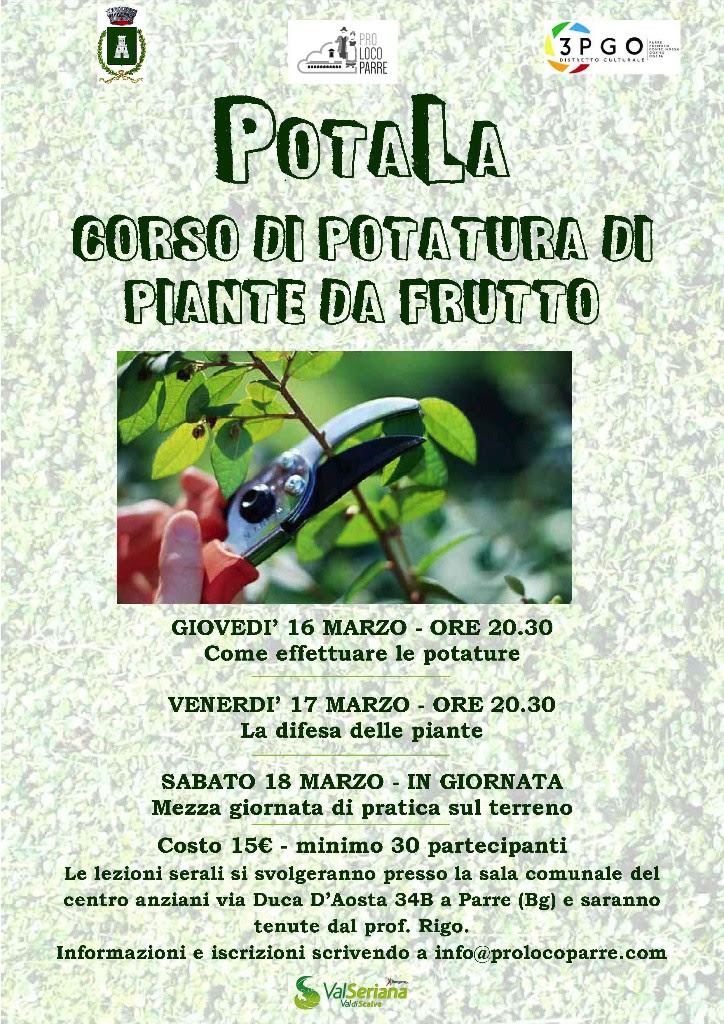 Corso di potatura di piante da frutto bergamo news for Potatura piante da frutto